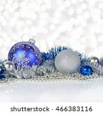 blue and silver christmas... | Shutterstock . vector #466383116