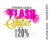 flash sale with discount upto... | Shutterstock .eps vector #466383542