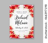 wedding invitation or card with ...   Shutterstock .eps vector #466397198