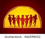 children running  designed on...   Shutterstock .eps vector #466398422