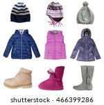 Child Girl Clothes Set Isolate...