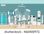 medical hospital surgery... | Shutterstock .eps vector #466400972