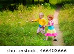 bright boy and girl. children... | Shutterstock . vector #466403666