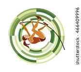 pole vault. sports disciplines... | Shutterstock .eps vector #466409996