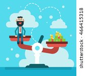 balance scale business man with ... | Shutterstock .eps vector #466415318