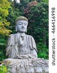 a buddha statue overlooks a...   Shutterstock . vector #466416998