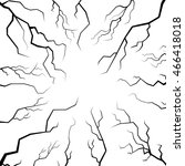 vector set of cracks for... | Shutterstock .eps vector #466418018
