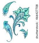 set of stylish detailed... | Shutterstock . vector #466427708