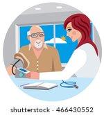 nurse and senior patient in... | Shutterstock .eps vector #466430552