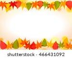 autumn maple background | Shutterstock .eps vector #466431092