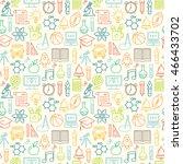 seamless school background....   Shutterstock . vector #466433702