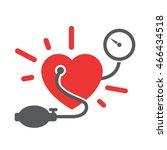 blood pressure measuring | Shutterstock .eps vector #466434518