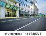 city empty traffic road with... | Shutterstock . vector #466438016