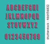 vintagealphabet font. type... | Shutterstock . vector #466456832