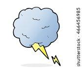 cartoon thundercloud symbol   Shutterstock . vector #466456985
