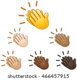 clapping hands sign emoji set... | Shutterstock .eps vector #466457915