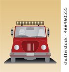 front  view of old pick up truck | Shutterstock .eps vector #466460555