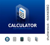 calculator color icon  vector...