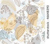 seamless floral background | Shutterstock .eps vector #46648390