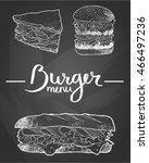 burger menu illustration of... | Shutterstock .eps vector #466497236