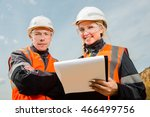 two people working | Shutterstock . vector #466499756