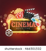 cinema movie vector poster... | Shutterstock .eps vector #466501532