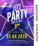 lets party design poster. night ... | Shutterstock .eps vector #466501898