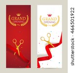 grand opening invitation banner.... | Shutterstock .eps vector #466501922