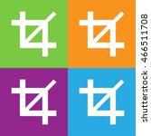 crop icon. simple logo of crop... | Shutterstock .eps vector #466511708