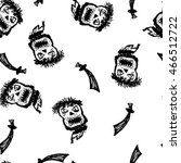 pirate skulls with crossed... | Shutterstock .eps vector #466512722