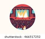 concert design flat | Shutterstock .eps vector #466517252