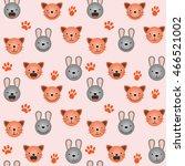vector flat seamless pattern  ... | Shutterstock .eps vector #466521002