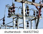 high voltage circuit breaker.... | Shutterstock . vector #466527362
