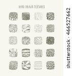 hand drawn square textures on... | Shutterstock .eps vector #466527662