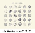 hand drawn circle textures | Shutterstock .eps vector #466527935