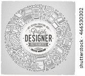 line art vector hand drawn set... | Shutterstock .eps vector #466530302