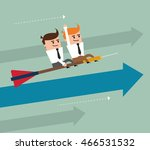 businessman arrow man male... | Shutterstock .eps vector #466531532