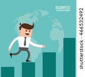 businessman steps bars man male ... | Shutterstock .eps vector #466532492