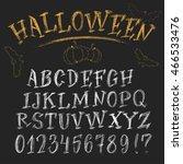 halloween chalk roman alphabet. ... | Shutterstock .eps vector #466533476