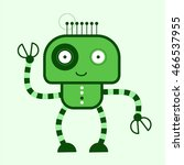 colorful toy robot. vector... | Shutterstock .eps vector #466537955