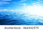 blue sea and sun on sky | Shutterstock . vector #466542575