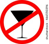 prohibition sign icon. no drink.... | Shutterstock .eps vector #466550396