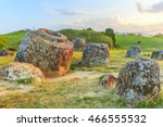 plain of jars in xiangkhoang ... | Shutterstock . vector #466555532