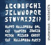 Happy Halloween Lino Cut Vecto...