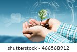 nature and technology... | Shutterstock . vector #466568912