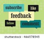 social media comment bubble ... | Shutterstock .eps vector #466578545