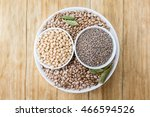 beans  chickpeas and lentils in ... | Shutterstock . vector #466594526