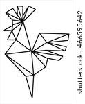 silhouette cock line. logo... | Shutterstock .eps vector #466595642