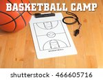 basketball camp letters on... | Shutterstock . vector #466605716
