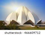 india. new delhi  lotus temple | Shutterstock . vector #466609712